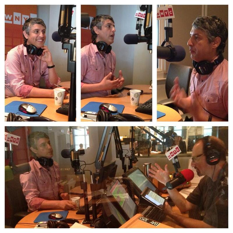 Author Reza Aslan in the WNYC studios.