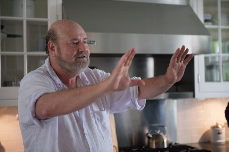 "Director Rob Reiner sets up a shot on the Connecticut set of  ""And So It Goes."""