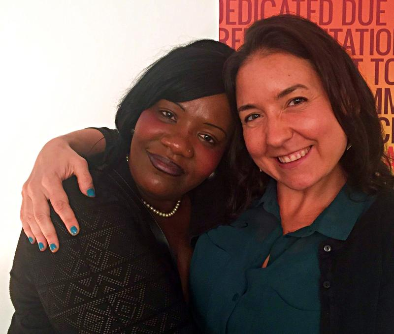 Tracey Jones (left), whose record was cleared by Bronx Judge Linda Poust Lopez, with her attorney, Zoe Root.