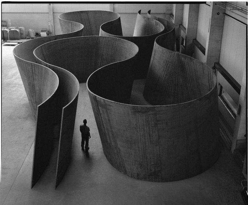 Richard Serra. Inside Out, 2013.  Weatherproof steel. 13 ft. 2 in. x 81 ft. 10 in. x 40 ft. 2 in. / 4.01 x 24.94 x 12.26 m