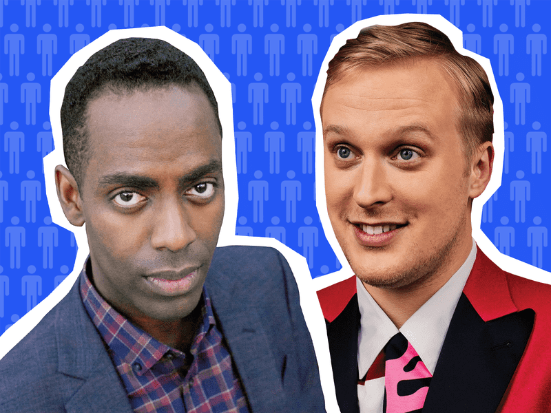 Actors (L to R) Baron Vaughn and John Early on Sooo Many White Guys