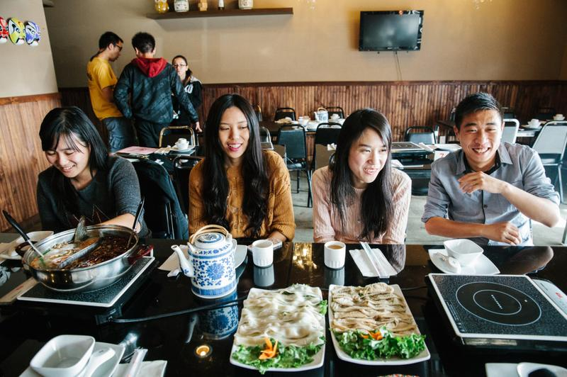 Amy Duan, second from right, is the founder of Chihuo, a Chinese-language restaurant review website.
