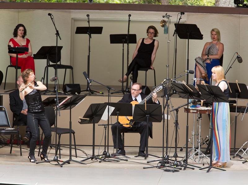 OJAI, CA - June 10, 2016: Kaija Saariaho Chamber Music I performed by ICE and Roomful of Teeth.
