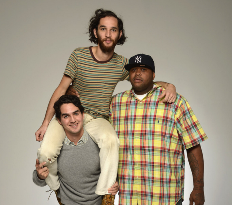 Josh Safdie and Benny Safdie with Lenny Cooke