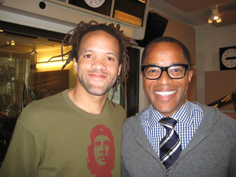 Savion Glover and guest host Jonathan Capehart at WNYC's studios June 26, 2013.