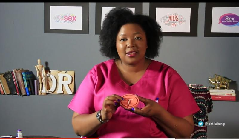 Dr. Tlaleng Mfokeng in a sex education Youtube video.