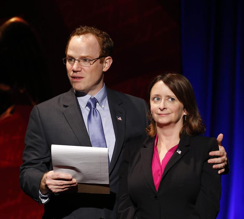 """Sean Dugan and Rachel Dratch in """"Tail! Spin!"""""""