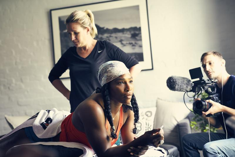 "Serena Williams in the new documentary, ""Serena: The Other Side of Greatness."""