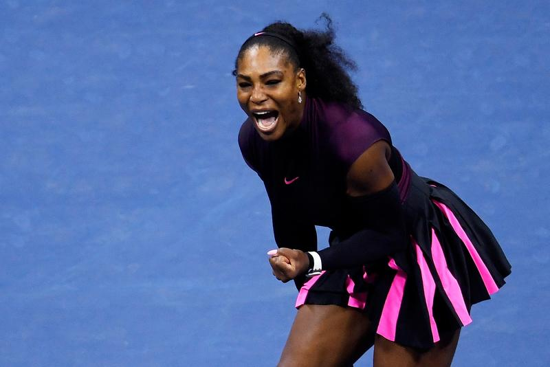 Serena Williams competing in style at the U.S. Open.