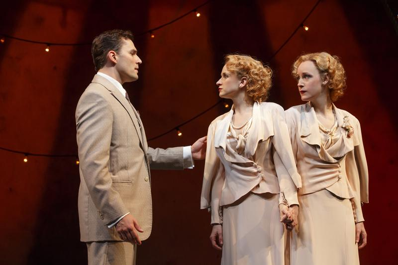 Ryan Silverman, Emily Padgett and Erin Davie in a scene from 'Side Show.'