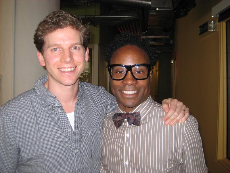 "Stark Sands and Billy Porter, stars in Broadway's ""Kinky Boots,"" in the WNYC studios"