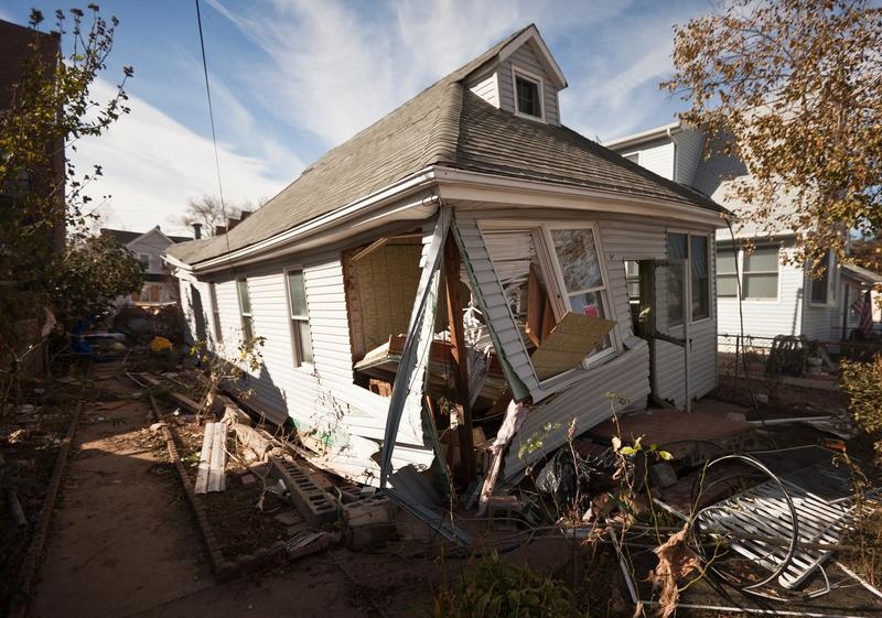 One of many houses in Staten Island, destroyed by Hurricane Sandy. November 6, 2012.