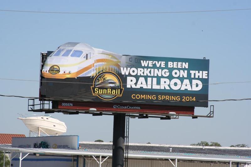 SunRail billboard, Orlando
