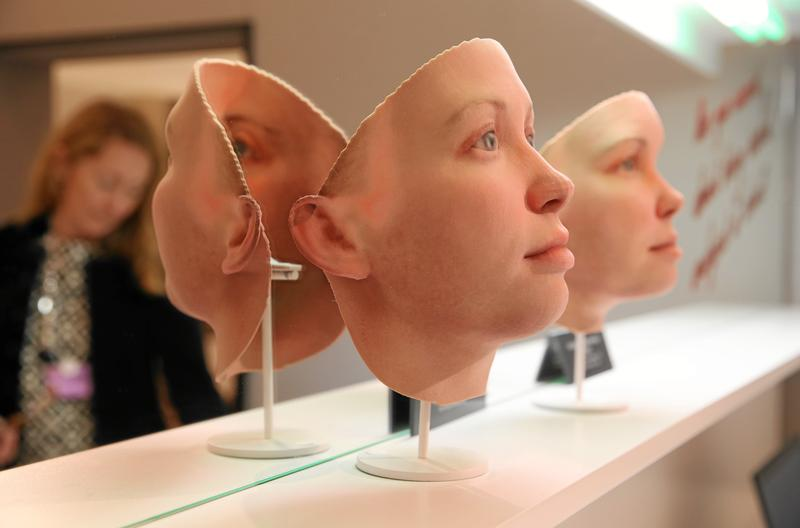 3D printed masks of Chelsea Manning by Heather Dewey-Hagborg