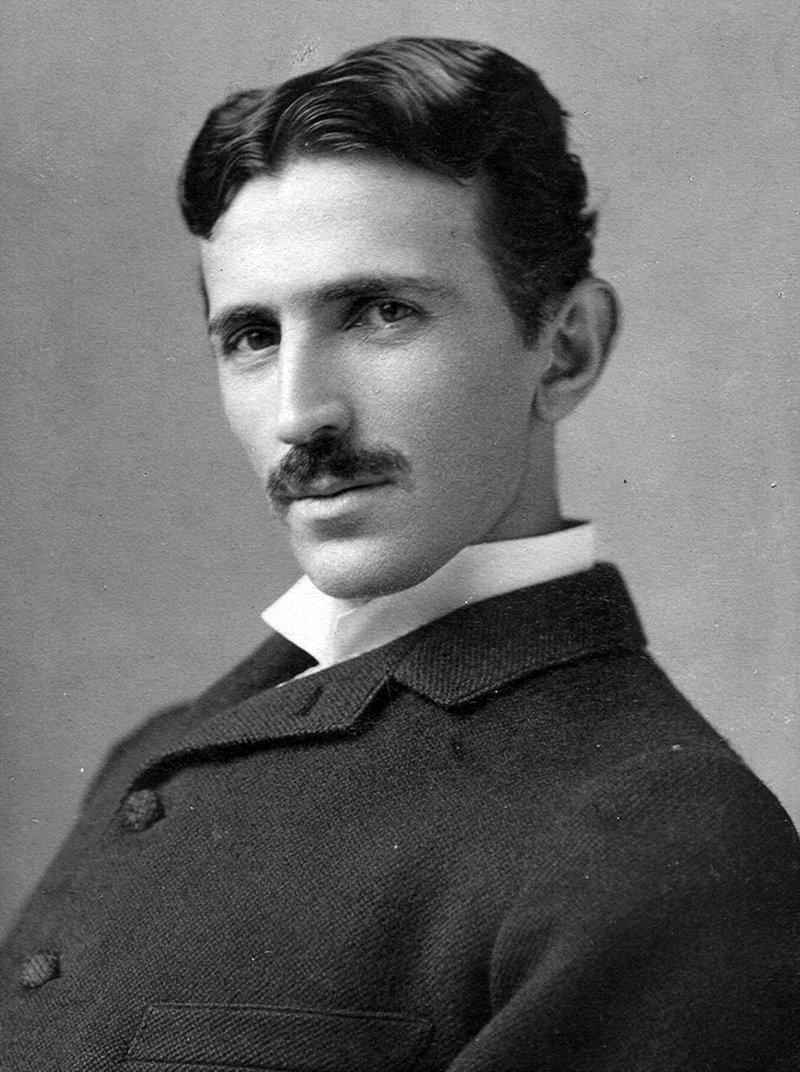 The inventor Nikola Tesla circa 1890.