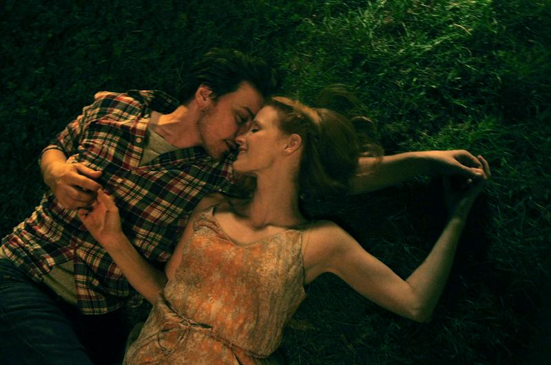 "Jessica Chastain and James McAvoy in ""The Disappearance of Eleanor Rigby."""