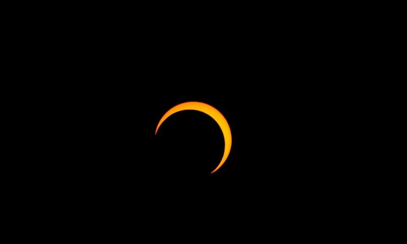 A picture of the May 20, 2012 eclipse, taken from Salt Lake City, Utah.