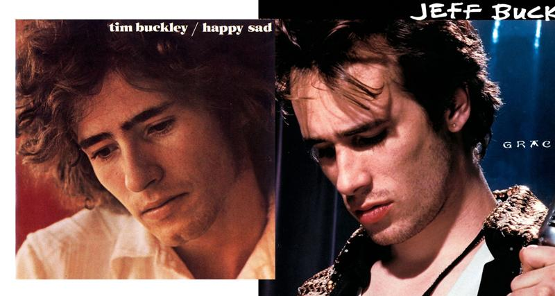 "album covers: Tim Buckley's ""Happy Sad,"" left, and Jeff Buckley's ""Grace,"" right"