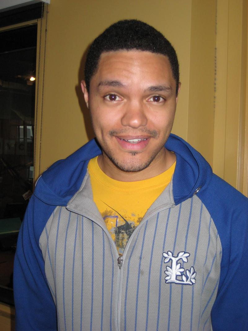 Comedian Trevor Noah in the WNYC studios