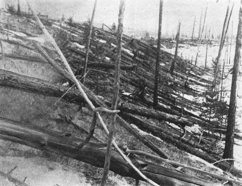 Image of the event site taken during Leonid Kulik's 1929 expedition.