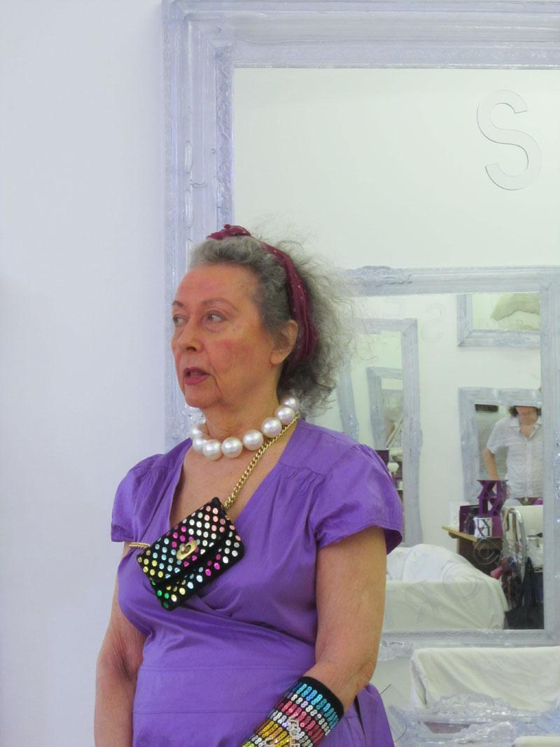 Ultra Violet photographed in her New York City studio, 2012
