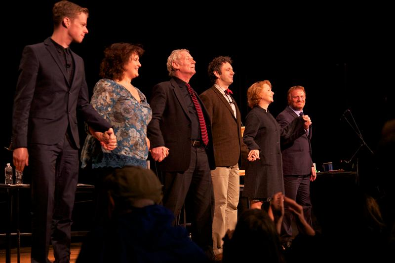 "The cast of Dylan Thomas' ""Under Milk Wood"" takes a bow"