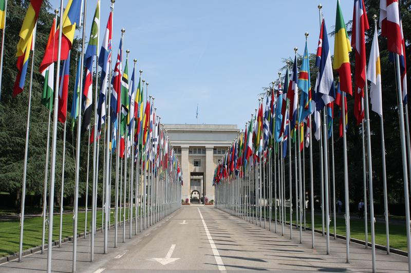United Nations Complex in Geneva where talks are on Iran's nuclear program are underway