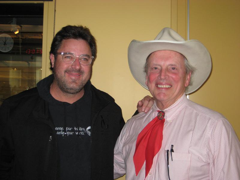 Musicians Vince Gill and Doug Green, two of the members of The Time Jumpers, in the WNYC studios
