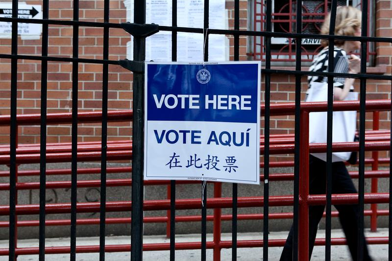 Voting in primary election in Crown Heights, Brooklyn, 2013.