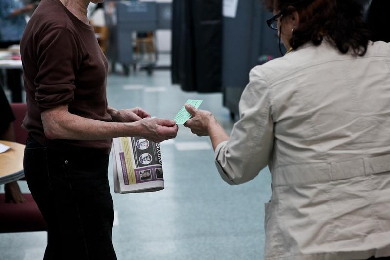 Voters on the Upper West Side casting ballots in the 2013 primary election.