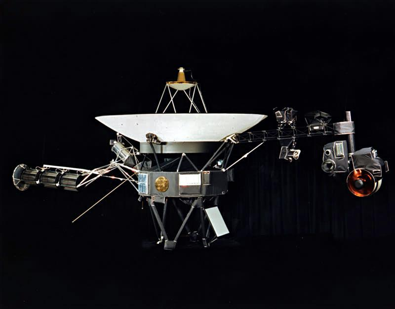 NASA photograph of one of the two identical Voyager space probes Voyager 1 and Voyager 2 launched in 1977.
