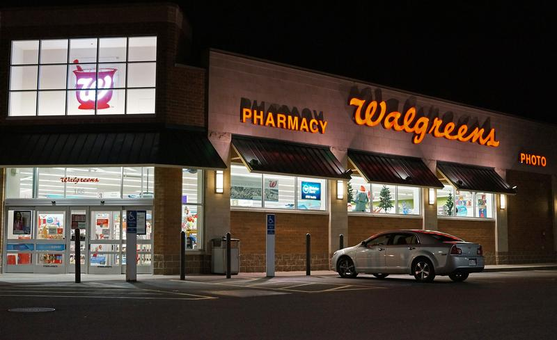 Walgreens located on Rt.1 South, Saugus, Massachusetts USA. Night view.