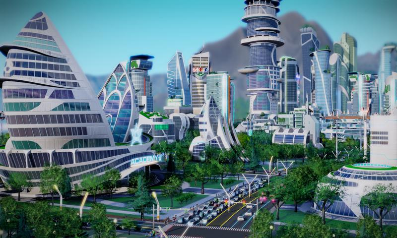 A still from <i>SimCity: Cities of Tomorrow</i>.