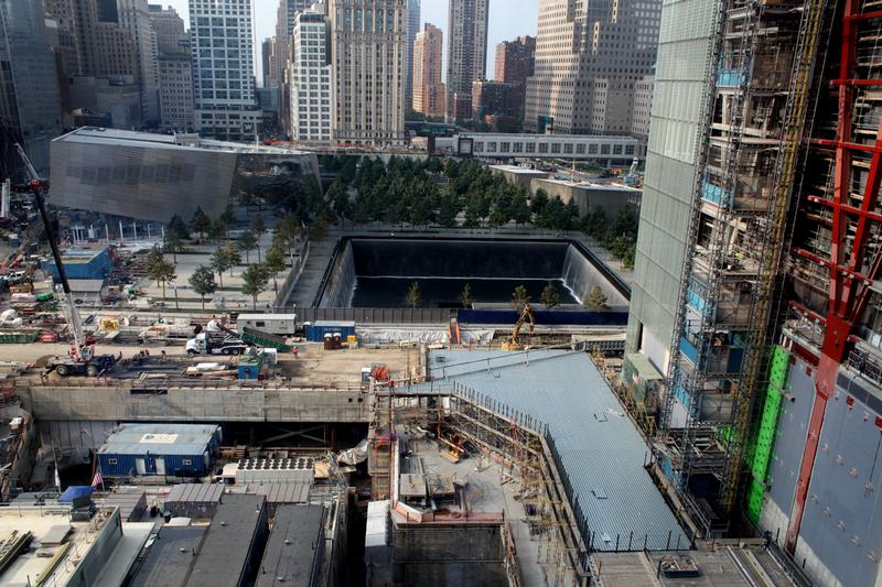 World Trade Center site on the 12th anniversary of the 9/11 attacks.