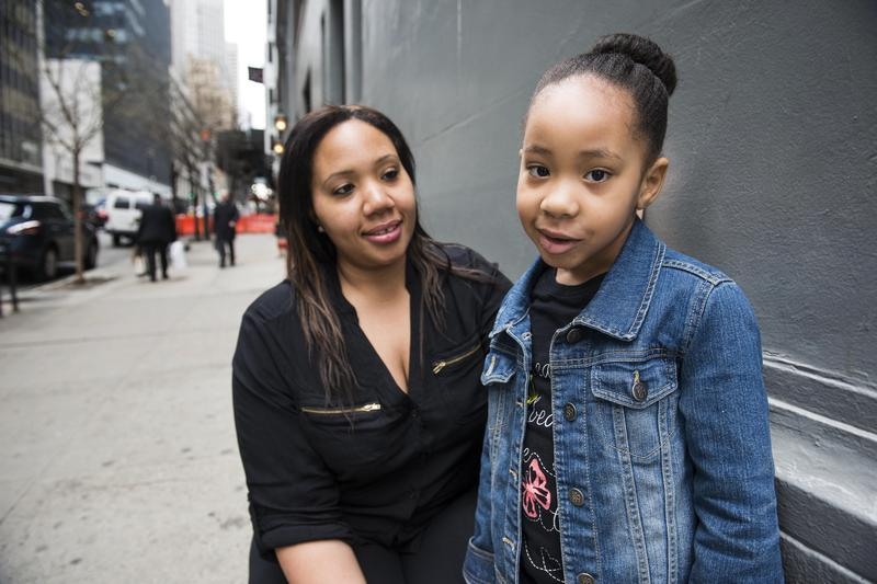 Zaimah Abdul-Majeed (left) and her daughter Zoe, 5. Abdul-Majeed has sued two landlords because of elevated levels of lead found in Zoe's blood.