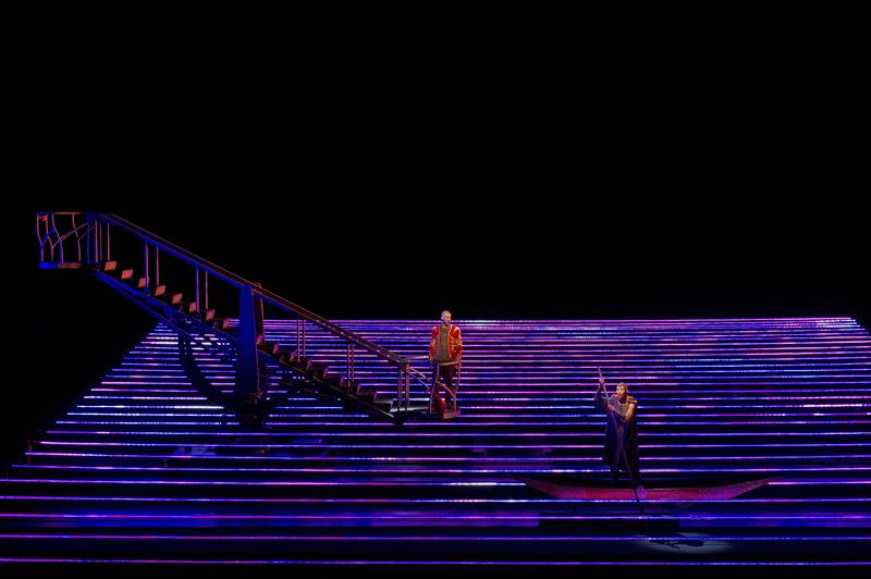 A scene from Kaija Saariaho's 'L'Amour de Loin,' the first female-composed opera to appear at the Met in over one hundred years.