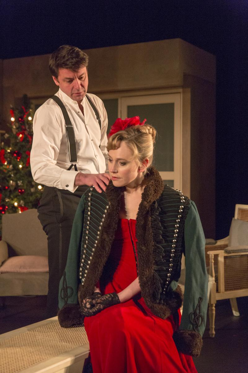 "Dominic Rowan and Hattie Morahan in ""A Doll's House"" at BAM"
