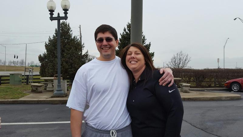 Aaron and his sister Jeanie Yokum