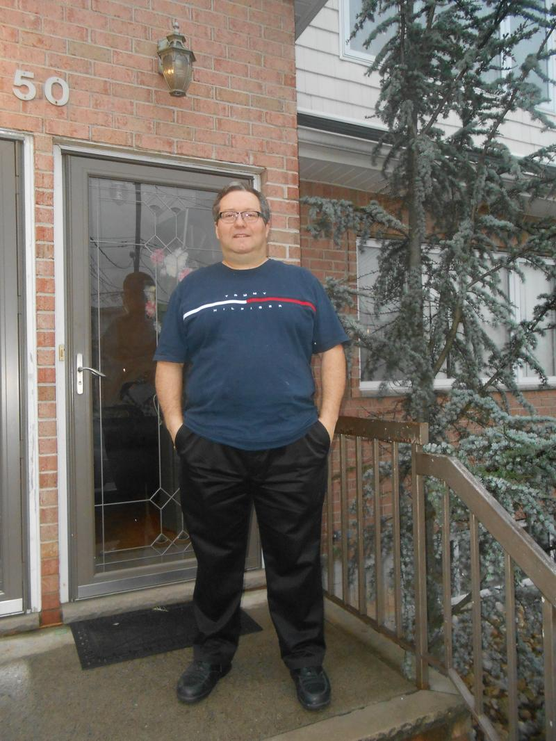 Alex Dubrovsky, who is organizing homeowners for buyouts in Staten Island