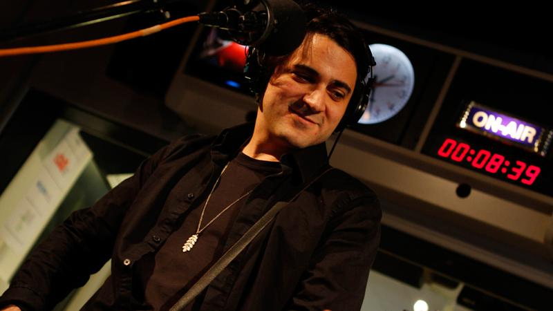 Alfonso Velez and his band AV perform in the Soundcheck studio.