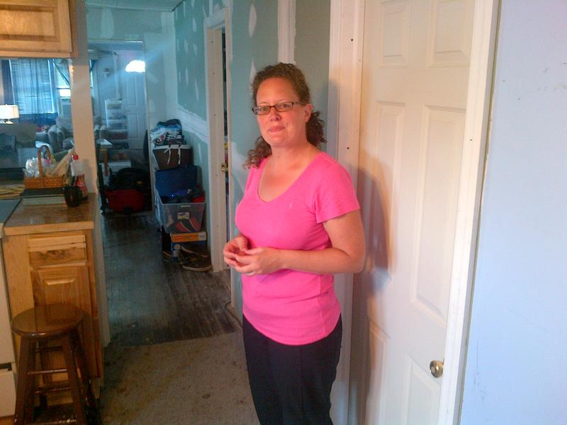 Alison Kase, in her Broad Channel, Queens, home that was heavily damaged by Sandy.