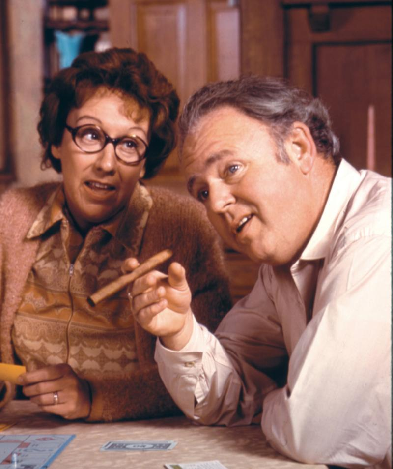 Jean Stapleton and Carroll O'Connor in <em>All In The Family</em>