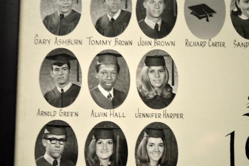 Alvin Hall's graduation photo