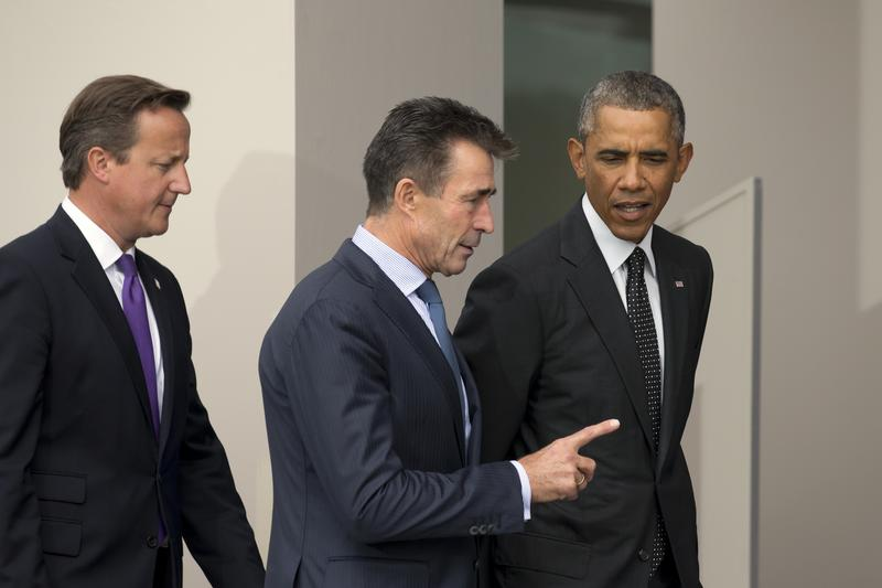 Former NATO Secretary General Anders Fogh Rasmussen, pictured here with President Obama in 2014, sees the United States as a crucial and leading ally of free democracies worldwide.