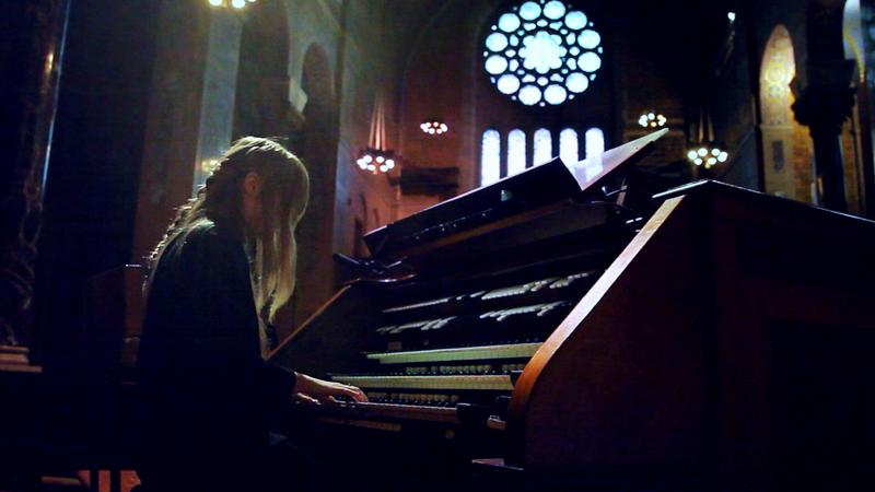 Anna Von Hausswolff performs a gigantic pipe organ at Christ Church in New York City.