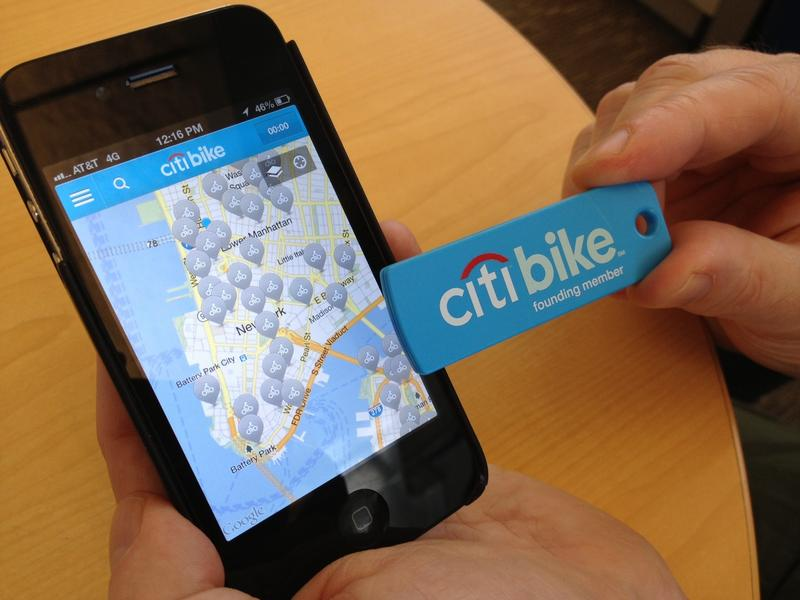 This future bike share user is ready: he has both the annual member key AND the Citi Bike app