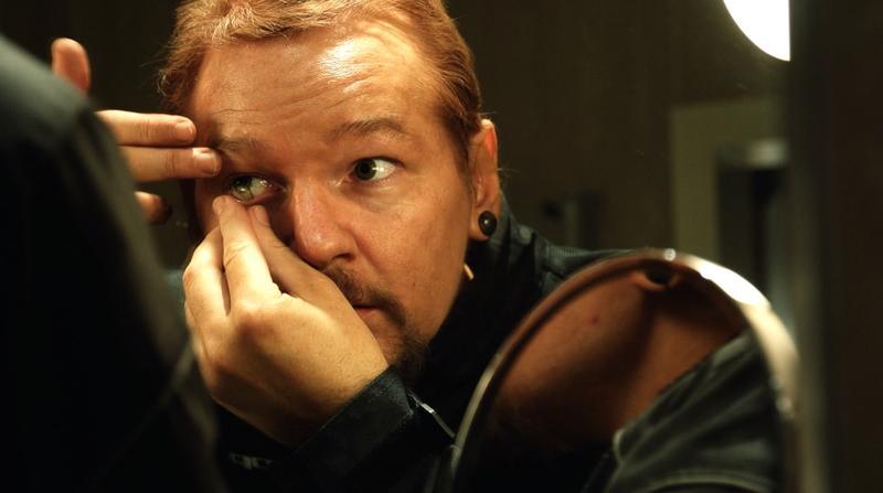 "Wikileaks founder Julian Assange, as seen in the documentary ""Risk,"" by director Laura Poitras."