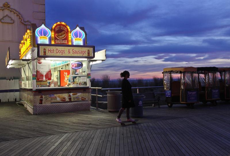 Atlantic City at sundown