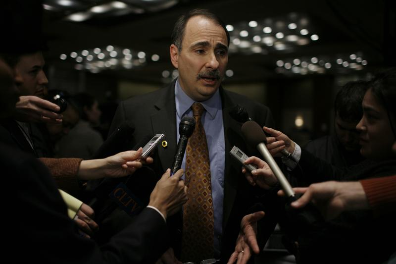 David Axelrod on Super Tuesday, 2008, in Chicago.