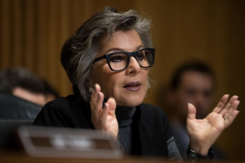 Committee ranking member Sen. Barbara Boxer (D-CA) questions witnesses during a Senate Foreign Relations Committee hearing concerning cartels and the U.S. heroin epidemic, on Capitol Hill, May 2016.